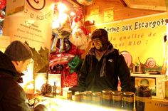 Schnecken beim Weihnachtsmarkt, mmhh.. Foto: Doris