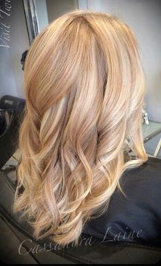 Golden sandy blonde with platnium
