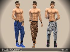 Male Joggers by Paogae at TSR via Sims 4 Updates