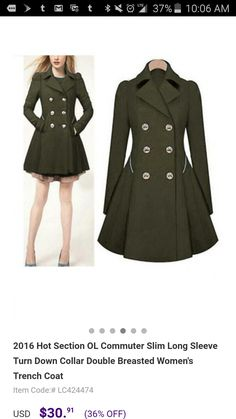 Amazon manteau officier femme