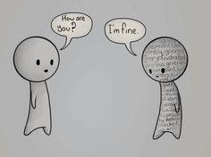 """sad, unhappy, depression, fine, :)"""""""