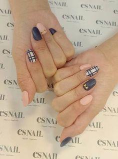 Nude, plaid and navy
