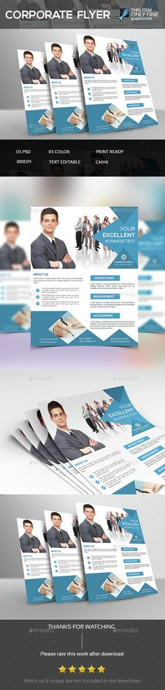 Corporate Flyer Template PSD. Download here: http://graphicriver.net/item/corporate-flyer-template/14627271?ref=ksioks