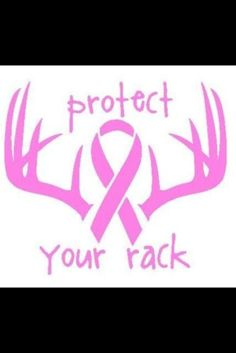 Car Decal Window Vinyl Antlers Girl's Protect YourRacK Hunting  9x101/2