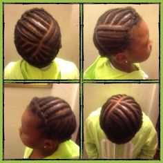 Flat twist for protective little girl hair style on 4c natural hair. great style for school, lasts for about a week with good care.  http://www.youtube.com/channel/UCgw5-9u-nO-LEYTSP222fYQ