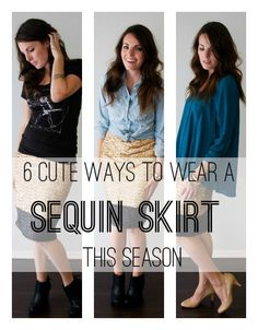 """Need a holiday outfit idea? Check out Babble.com's """"6 Cute Ways to Wear a Sequin Skirt This Season"""""""