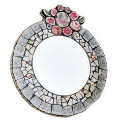 Anna Tilson - Mirror made from Vintage Crockery