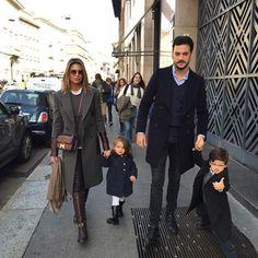 #ClaudiaGalanti Claudia Galanti: Family walk !!! happy Saturday in Milan #beautifulweather #sunnyday ❤️❤️❤️❤️