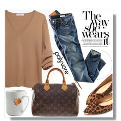 Camel Sweater by myfashionwardrobestyle on Polyvore featuring J.W. Anderson, H&M, Nancy Gonzalez and le mouton noir & co.