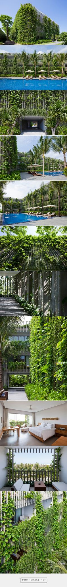 vo trong nghia blends greenery with concrete louvers in vietnamese naman retreat - created via http://pinthemall.net
