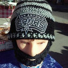 SAN ANTONIO SPURS Bearded Beanies all have by DWedgeCreations