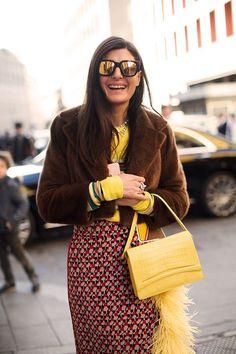 Giovanna Battaglia in Milano! Photo by the Sartorialist. Street Chic, Street Style, Image Fashion, Spring Couture, Giovanna Battaglia, Sartorialist, Yellow Fashion, Ikon, Style Icons