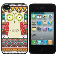 cute tribal with owl cell phone case.