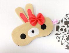 NEW Kawaii Sleeping Eye Mask  Berrie Bunny by SwiedebieCreative, $22.00