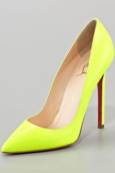 DIY any old pair of shoes with neon paint! These babies are nice but they are $625
