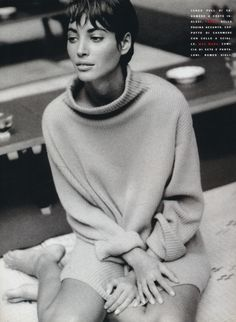 "Vogue Italia November 1990 ""Italian Fashion Triumphs in Japan, Country between Past and Future"" Model & Designers: Christy Turlington, Rei Kawakubo, Yohji Yamamoto & Issey Miyake Photographer: Patrick Demarchelier Stylists: Anna Dello Russo & Alice Gentilucci Hair: Didier Malige Makeup: Moyra Mulholland"