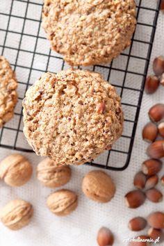 Ciasteczka owsiane orzechowe - Fotokulinarnie Walnut Cookies, Small Tea, Tea Time, Cookie Recipes, Cereal, Muffins, Oatmeal, Cupcakes, Treats