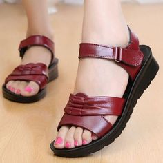 2261404733f0 Women s Soft Leather Sandals (2 Colors)
