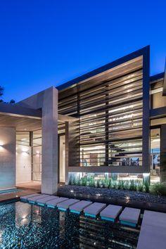piscina arquitetura painel treliça fachada
