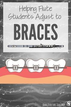 Playing flute with braces can be a pretty traumatic experience for many students. Here are some great tips to help your flute students adjust to braces and regain their tone in no time! Violin Lessons, Music Lessons, Middle School Music, Band Director, Music Lesson Plans, Music Worksheets, Piano Teaching, Music Activities, Elementary Music