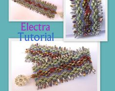 Tutorial Silvia SuperDuo and Brick beads Beadwork por Lirigal