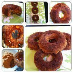 Cinnamon Glazed Pumpkin Doughnuts