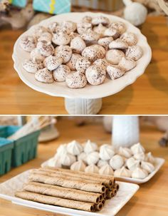 Bundle Up, Baby! Winter Baby Shower {Mini Desserts + Hot Cocoa Bar}