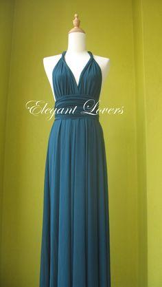 Teal Wedding Dress Bridesmaid Dress Infinity by Elegantlovers