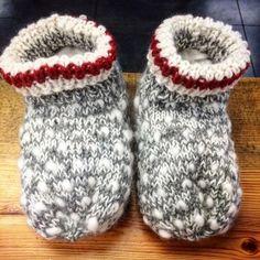 Thrummed Slippers