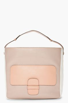 MARC JACOBS taupe combo leather ivory bag