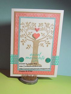 CTMH September 2014 Stamp of the Month Family Is Forever card with Seaside paper by Dawn Ross at http://iamahappystamper.blogspot.com