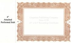 """Antique Certificate w/ Eagle 15"""" x 8.5"""" with 4"""" Stub (Brown) https://www.corporatepublishingcompany.com/product/goes-138-certificates"""