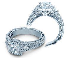 White Gold Over Hallo Style Twist Shank Round Diamond Engagement Ring Verragio Engagement Rings, Split Shank Engagement Rings, Verragio Rings, White Gold Jewelry, Pretty Rings, White Gold Diamonds, Rose Gold, Fashion Rings, Wedding Rings