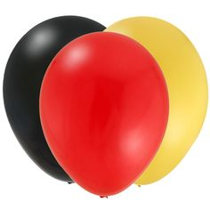 red yellow black balloons