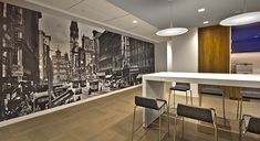 Wall Graphics for the workplace breakout space - http://www.vinylimpression.co.uk/pages/office-branding