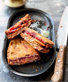 Deep Fried PB&J Sandwich // In need of a detox? Get your teatox on with 10% off using our discount code 'Pinterest10' on www.skinnymetea.com.au X