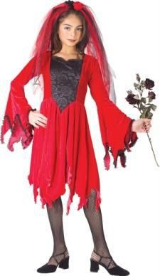 Girl's Devil Bride Costume - Velvety Devil Bride Child Costume Some Devil Will Be Very Happy! Costume includes: Drop sleeve dress with shredded edges and . Retro Costume, Costume Shop, Halloween Outfits, Halloween Costumes For Kids, Angel And Devil Costume, Giraffe Costume, Bride Costume, Red Media, Girl Costumes