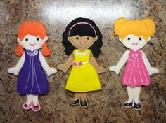 In The Hoop Felt Fun Dress Up Doll Basic Set by NewfoundApplique