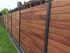 Modern Backyard Design, Small Backyard Landscaping, Backyard Fences, Wood Fence Design, Backyard Paradise, Pergola, House Design, Patio, Fencing