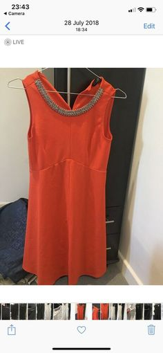 358fa2ef140 Dorothy Perkins Embellished Orange Summer Dress UK 10 Worn Only Few Times  #fashion #clothing