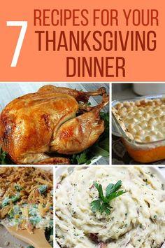 7 Recipes for Thanksgiving Dinner | The Crafty Blog Stalker