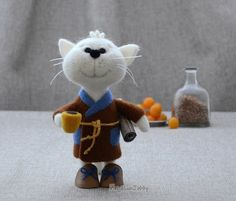 Needle felted cat MADE TO ORDER  Needle felted by NeighborKitty