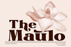 The Maulo by Khoir on @creativemarket