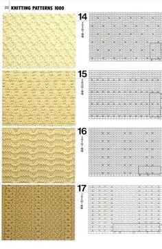 Книга 1000 узоров — Yandex.Disk Lace Knitting Stitches, Knitting Paterns, Crochet Stitches Patterns, Knitting Charts, Stitch Patterns, Diy Crafts Knitting, Easy Knitting, Loom Knitting, Knitting Socks