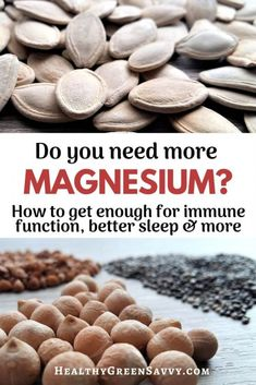 Are you getting enough magnesium? (Most of us aren't!) Magnesium is involved in hundreds of bodily processes, affecting everything from nerve and muscle function to sleep. Make sure you're getting enough! #magnesiumdeficiency #health #magnesium #nutrition #magnesiumbenefits
