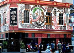 Mama Africa Restaurant, Cape Town, South Africa offers traditional African dishes, prepared in a Zulu Boma, most days with live African Jazz and Kwaito music. Restaurants, Cape Town South Africa, Africa Travel, Beautiful Places, Places To See, City, Restaurant Offers, Funny, Viajes