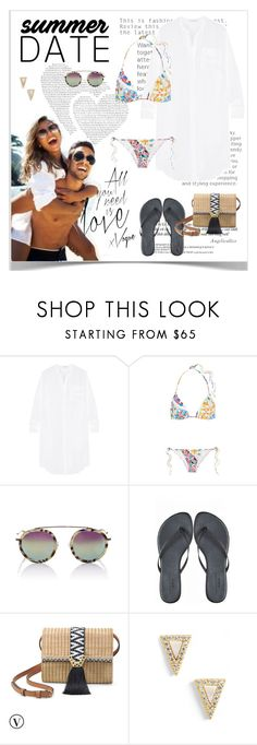 """Summer date"" by angelicallxx ❤ liked on Polyvore featuring James Perse, Emilio Pucci, Krewe, Stella & Dot, Freida Rothman, beach and summerdate"