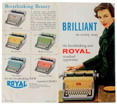 THE TYPEWRITER, I never knew they came in colors!!! Love it!
