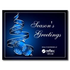 Corporate Season's Greetings Cards With Logo Postcard