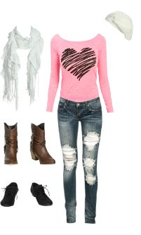 WetSeal.com Runway Outfit:  fall love by shonshon23. Outfit Price $109.64
